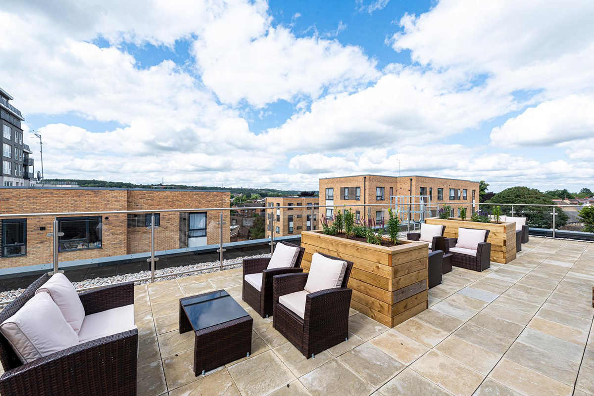Photo of the properties rooftop terrace.